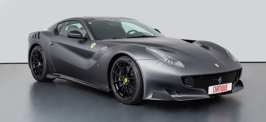 The Ferrari F12tdf, pictured above, has doubled in value since it initially went on sale.